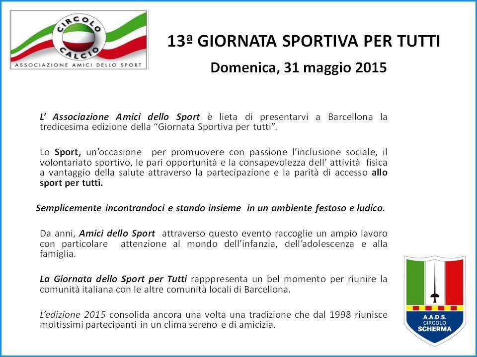 13° Giornata sportiva per tutti