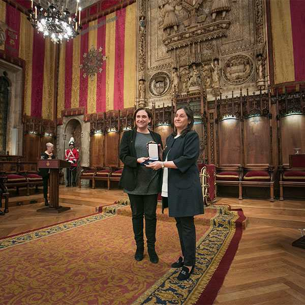 Consegna della Medaglia d'oro al merito civico alla Camera di Commercio Italiana – Barcellona