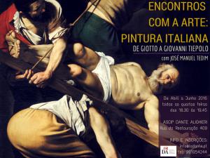 CARTAZ ENCONTROS COM A ARTE ITALIANA
