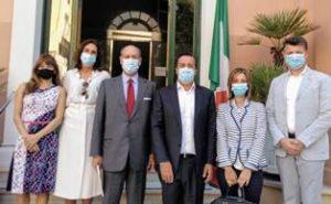"""SPAGNA – L'Ambasciatore Guariglia con la """"Casa degli Italiani"""""""